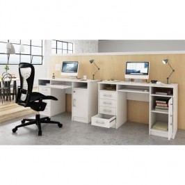 PC stolek 124x76cm v bílém provedení TK2155