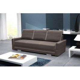 Rozkládací pohovka s úložným prostorem v hnědé barvě 230 cm F1137