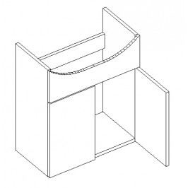 Dolní skříňka pod umyvadlo 50 cm v moderním dekoru wenge typ DUM50 KN490