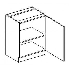 Dolní skříňka 60 cm s pravým otevíráním v elegantní mocca matné šedé barvě typ D60 KN394