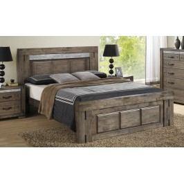 Luxusní manželská postel 180x200 cm v barvě charcoal grey s roštem KN345