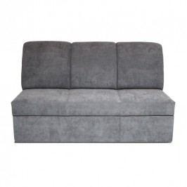 Bytelný trojsed potažený šedým šenilem s možností rozložení na spací plochu TK245