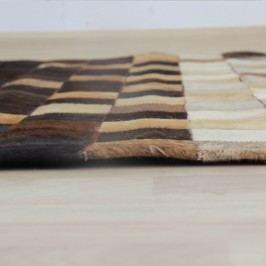 Koberec z hovězí kůže ve stylu patchwork 70x140 cm TK2072