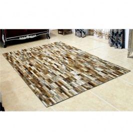 Luxusní koberec, kůže, typ patchworku, 141x200 cm, KOBEREC KOŽA typ5