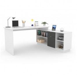 Kancelářský stůl 168x168 cm v bílé barvě TK2084