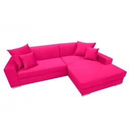 Rozkládací sedací souprava v růžové barvě pravá F1154