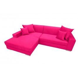 Rozkládací sedací souprava v růžové barvě levá F1154