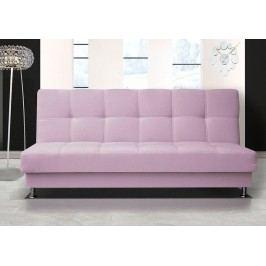 Pohodlná pohovka s úložným prostorem ve světle růžové barvě F1303