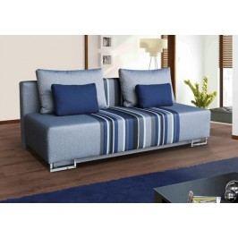 Rozkládací pohovka s úložným prostorem s polštářky v modré barvě F1150