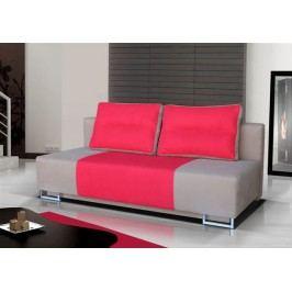 Rozkládací pohovka s úložným prostorem v kombinaci béžové a červené barvy F1150
