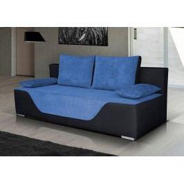 Pohovka v kombinaci modré a černé barvy s úložným prostorem F1182