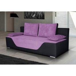 Pohovka v kombinaci fialové a černé barvy s úložným prostorem F1182