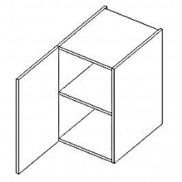 Dolní skříňka do koupelny v levém provedení 40 cm dub sonoma a černý lesk D40 KN486