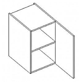 Dolní skříňka do koupelny v pravém provedení 40 cm dub sonoma a bílý lesk D40 KN486
