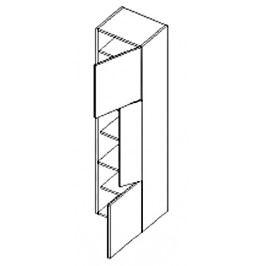 Dolní skříňka do koupelny v pravém provedení 40 cm dub sonoma a bílý lesk D40SL KN486