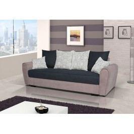 Pohodlná pohovka s úložným prostorem v kombinaci béžové a černé barvy F1141