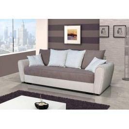 Pohodlná pohovka s úložným prostorem v kombinaci béžové a hnědé barvy F1141