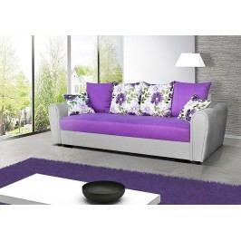 Pohodlná pohovka s úložným prostorem v kombinaci šedé a fialové barvy F1141