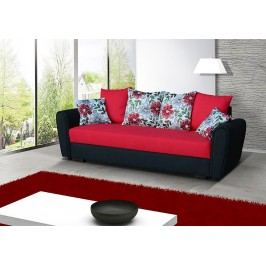 Pohodlná pohovka s úložným prostorem v kombinaci černé a červené barvy F1141