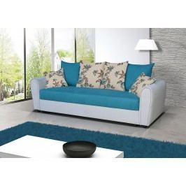 Pohodlná pohovka s úložným prostorem v kombinaci šedé a tyrkysové barvy F1141