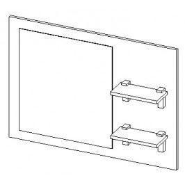 Panel se zrcadly do koupelny 90 cm dub lefkas typ II KN483