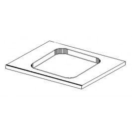Koupelnová deska s výřezem na umyvadlo 60x50 cm s možností výběru barvy KN483 a KN486