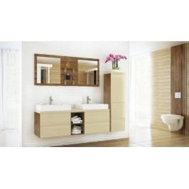 Koupelnová sestava dub lefkas a vanilka lesk KN483