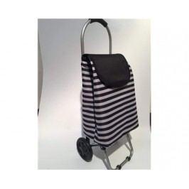 Nákupní taška na kolečkách 87 x 35 x 28 cm, černý pruh