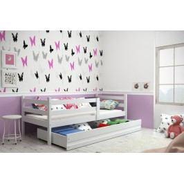 Dětská postel z borovicového dřeva v bílé barvě F1274