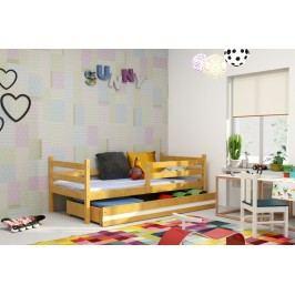 Dětská postel z borovicového dřeva v dekoru olše F1274