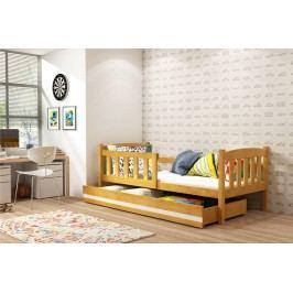 Dětská postel z borovicového dřeva v dekoru olše 80x160 F1176