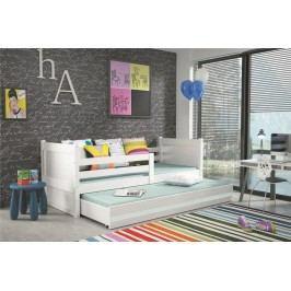 Dětská postel s přistýlkou v bílé barvě 90x200 F1133