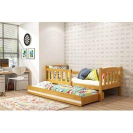 Dětská postel z borovicového dřeva v dekoru olše s přistýlkou F1176