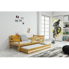 Dětská postel z borovicového dřeva v dekoru olše s přistýlkou F1274
