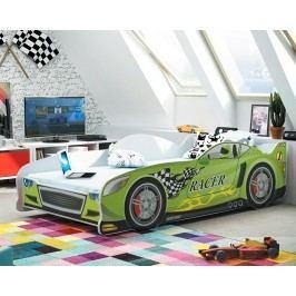 Postel ve stylu závodního auta v zelené barvě F1285