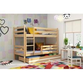 Dětská patrová postel v dekoru borovice F1274