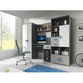 Dětský pokoj v šedé barvě modré úchytky F1180