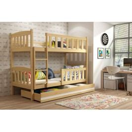Dětská patrová postel v dekoru borovice 90x200 F1176