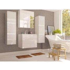 Koupelnová sestava v elegantním bílém lesku s umyvadlem KN492