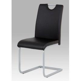 Jídelní židle v kombinaci černá ekokůže a šedý kov DCL-121 BK