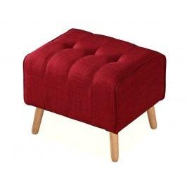 Čalouněný taburet v červené barvě KN415