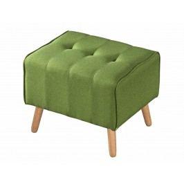 Čalouněný taburet v zelené barvě KN415