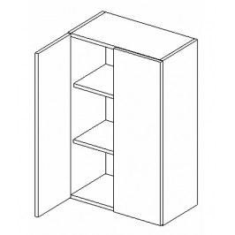 Horní skříňka do koupelny 50 cm bílý lesk W50 KN489
