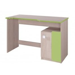 Pracovní stůl v dekoru dub v kombinaci se zelenou barvou typ D6 KN741