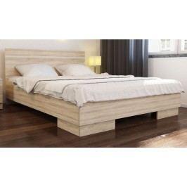 Manželská postel 150x200 cm v dekoru dub sonoma s roštem KN535