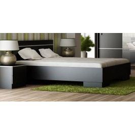 Elegantní postel v moderním stylu v černé barvě 140x200 KN535