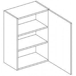 Horní skříňka pravá 45 cm akácie W45 KN411