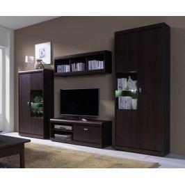 Obývací stěna v čokoládové barvě typ A F2001