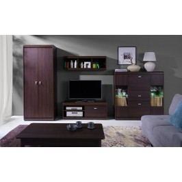 Obývací stěna v čokoládové barvě typ B F2001