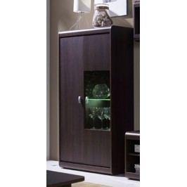 Vysoká vitrína 79 cm v čokoládové barvě typ R5 F2001